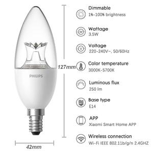 Image 3 - Xiaomi Mijia Smart Led Kaars Lamp Wifi E14 Dimbare Philips Zhirui Lamp App Controle Mi Smart Home Automation Apparaat