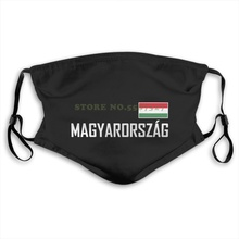 Herren Unisex Kurzarm Ungarn Hungary Magyarorszag Flagge Fan Gift Washable Diy Cool Face Masks