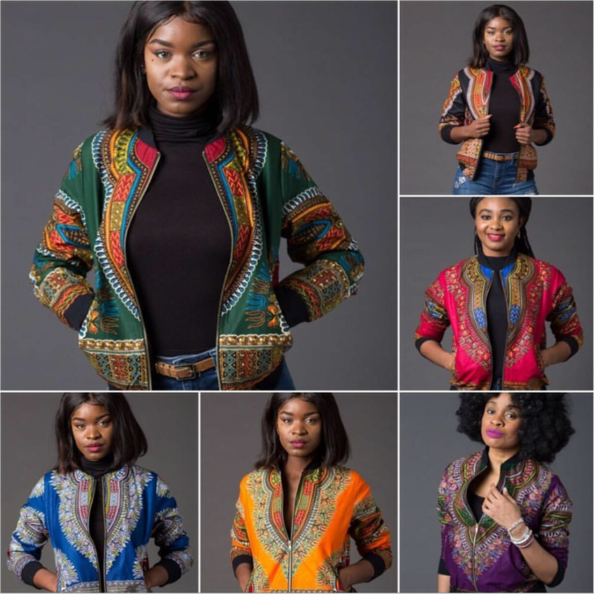 5Color Women Traditional Print African Clothes 2019 Fashion Dashiki Bazin Dresses For Adult Retro Long Sleeve Africa Jacket