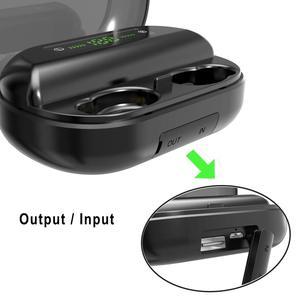 Image 2 - 3000mAh TWS Bluetooth Earphone 5.0 9D Stereo Wireless Headphones Touch Control IPX7 Waterproof Wireless Earphones Power Bank