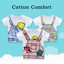 Hot Sale summer toddler Children Boys girls T Shirts Short Sleeve clothes Children Girls Print T-Shirts Cotton Kids Tops Tee цена 2017