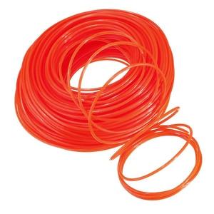 Serra de corrente para aparar grama, 2.4mm de diâmetro, escova de grama, corda de nylon, aparador de grama, cabo de nylon