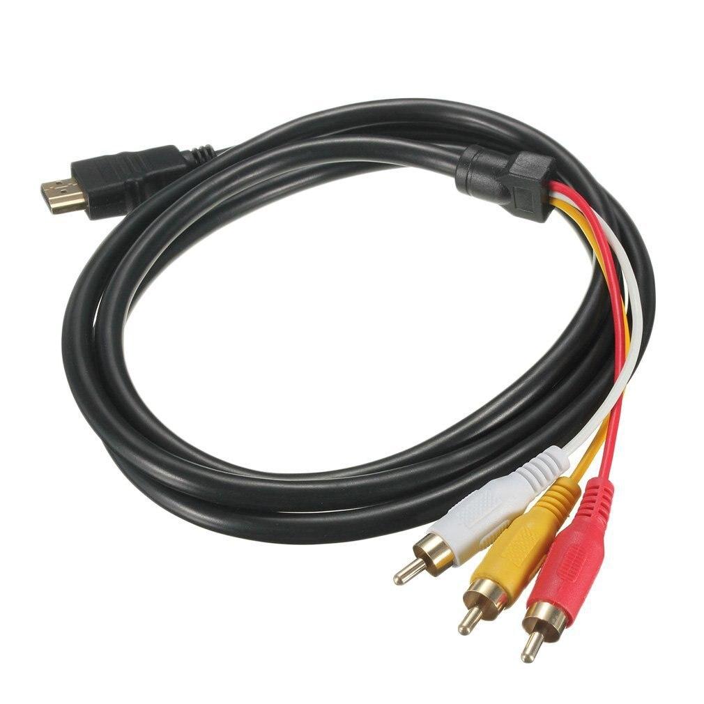 5 футов 1080P HDTV HDMI Мужской до 3 RCA Аудио Видео AV кабель Шнур адаптер конвертер соединитель компонентный кабель для HDTV Новый Кабели HDMI      АлиЭкспресс