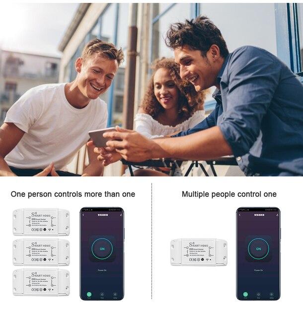 New DIY Smart Wireless Remote Switch Socket Smart Home Automation Remote Control Switch Relay Smart Life/Tuya with Alexa Google 6
