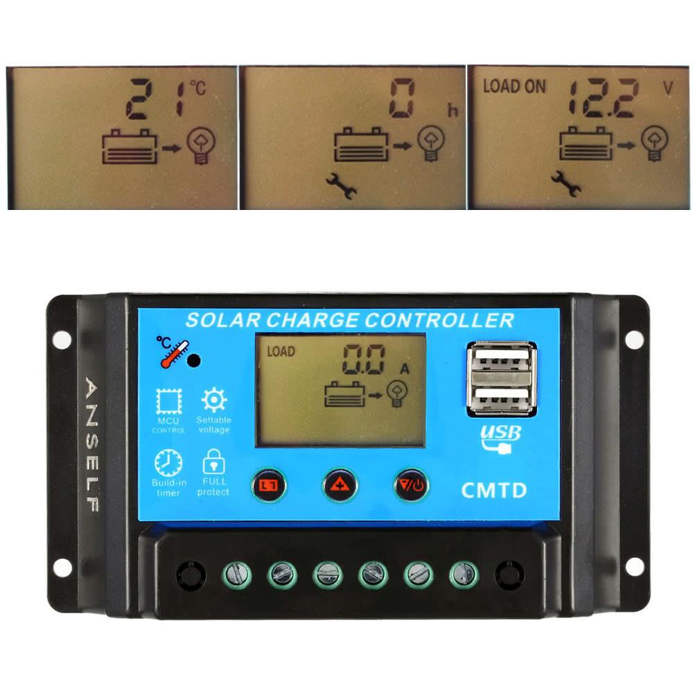 controlador de carga solar regulador automatico para 02