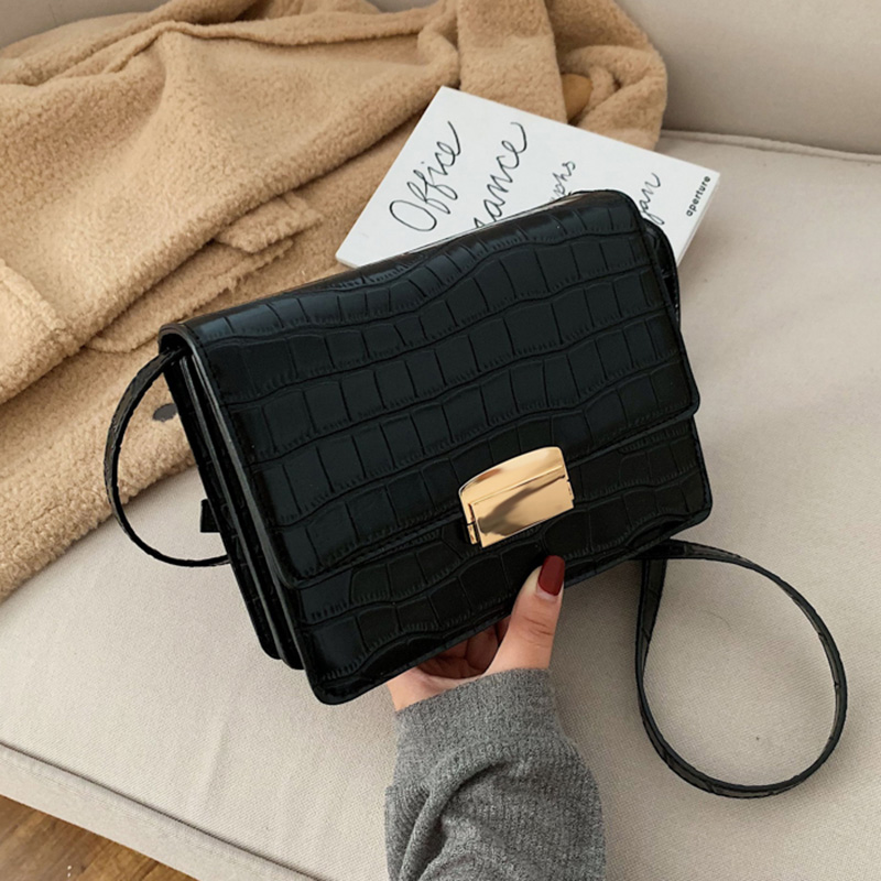 Stone Pattern Small PU Leather Crossbody Bags For Women 2020 Shoulder Messenger Bags Female Travel Handbags And Purses