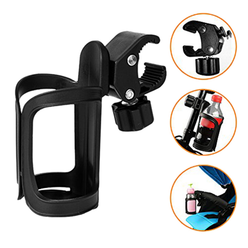 ABUO-Outdoor Bicycle Cup Holder Baby Stroller Bottle Holder Wheelchair Cup Holder 360 Degree Universal Stroller Bicycle Cart Bot