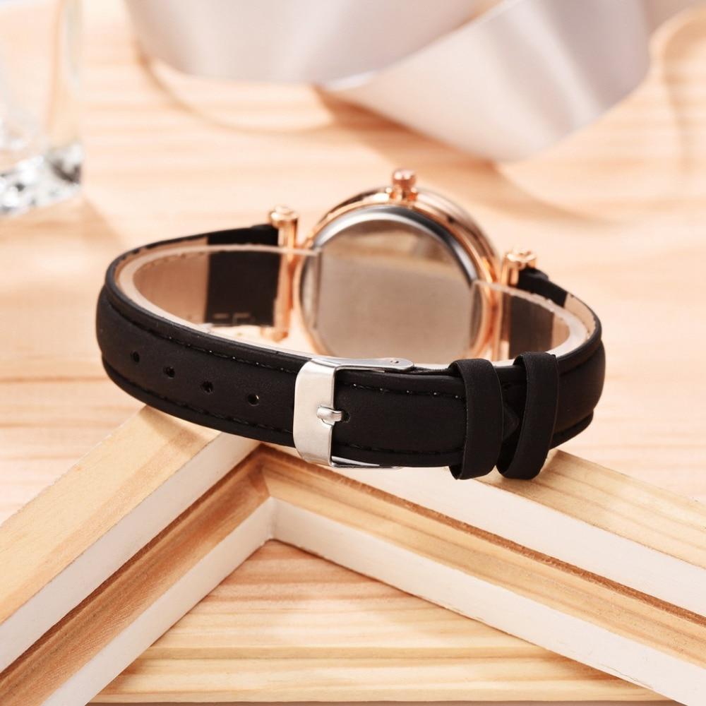IsMyStore: Casual Romantic Starry Sky Watches For Women Fashion Leather Band Quartz Wrist Watch Women Watches Ladies Clock Relogio Feminino