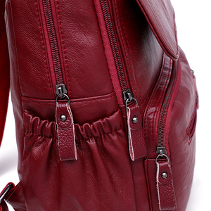 Image 5 - LANYIBAIGE sac à dos en cuir PU pour femmes, sac décole de luxe de bonne qualité, à la mode, grande capacité, pour voyage Ba