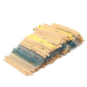 Image 2 - 3120 pcs 156 Valori Elettrico Unità di 1/4 W di Potenza Resistore a Film Metallico Kit 1R 10M 1% di Tolleranza di Assortimento Set 1ohm 10Mohm campioni pacchetto