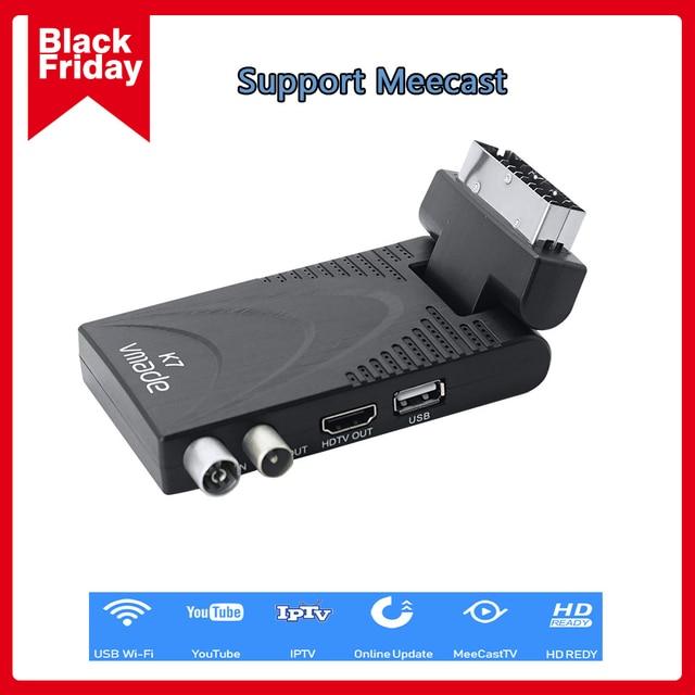 2020 K7 DVB T2 karasal alıcı HD 1080P H.265 dekoder DVB T2 TV Tuner desteği USB WIFI dijital Set üstü kutusu alıcı