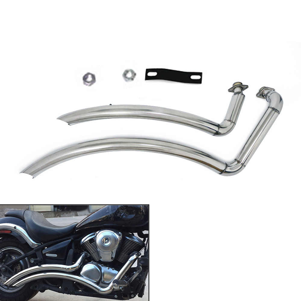 for kawasaki vulcan 900 s en900 vn900 s900 all years motorcycle exhaust pipe aerofluxus vent pipe with muffler silencer baffles