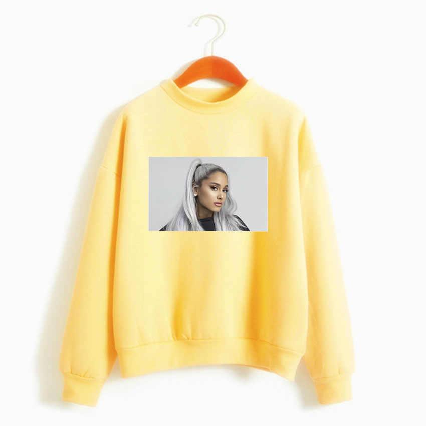 BTFCL Nieuwe Mode Vrouwen Sweatshirt Ariana Grande Idol Geen Tranen Links Naar Cry Gothic Harajuku Kpop Hoodies Leisure Sudadera Mujer