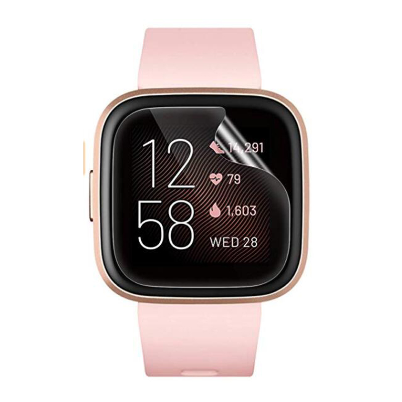 5pcs Soft TPU Clear Protective Film Smartwatch Guard For Fitbit Versa 2 Versa2 Smart Watch Full Screen Protector Cover (No Glass