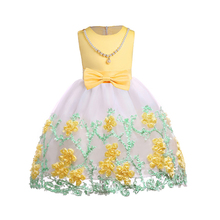 Baby Embroidered Formal Princess Dress for Girl Elegant Birthday Party Christmas Clothes 3-9 Years
