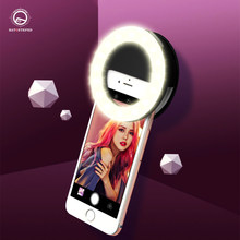 Universele Selfie Led Ring Flash Light Draagbare Mobiele Telefoon 36 Leds Selfie Lamp Lichtgevende Ring Clip Voor Iphone 11max 7 8 Plus(China)