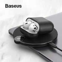 Baseus Wireless di Ricarica Caso Ricevitore Per AirPods Del Silicone di TPU Ultra Sottile per il Caso di Apple Airpods di Supporto Wireless di Ricarica