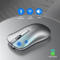 Bluetooth Mouses Wirless Gaming Mouse for Macbook Mause Teclado Pc Computer Mice 2.4Ghz USB Optical Rechargeable Silent Muis