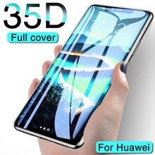 Vidrio protector 35D para Huawei Mate20 Lite 10 Pro mate9 vidrio templado para Huawei P9 Plus P8 lite 2017 P9 protector de pantalla película