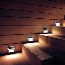 3 светодиода, Уличный настенный светильник, современная лампа на солнечных батареях, умный светильник, датчик ing, IP65, водонепроницаемый, для улицы, лестницы, дорожка, сад