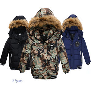 2020 NEW High Quality Winter Child Boy Down Jacket Parka Big Girl Thicking Warm Coat 2 3 4 5 6 Year Light Hooded Outerwears