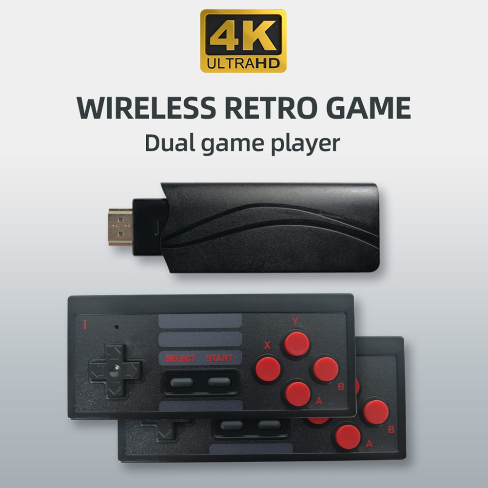 cheapest 4K HDMI Built In 568 Classic Videos Game Retro Console Controller Wireless US