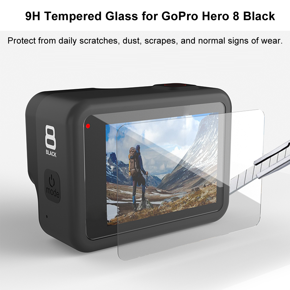 Tempered Glass Screen Protector for GoPro Hero 8 Black Lens Protection Protective Film for Gopro8 Go pro 8 Camera Accessories 2