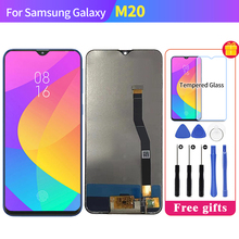 Für SAMSUNG Galaxy M20 SM M205 M205F LCD Display Touchscreen Digitizer SM M20 Pantalla LCD Glas