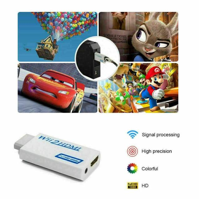Full HD 1080P Portable Wii to HDMI Converter Adapter Wii2HDMI Converter 3.5mm Audio For PC HDTV Monitor Display