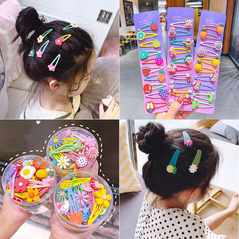 Милые детские bb заколки для волос шпильки с цветком животных