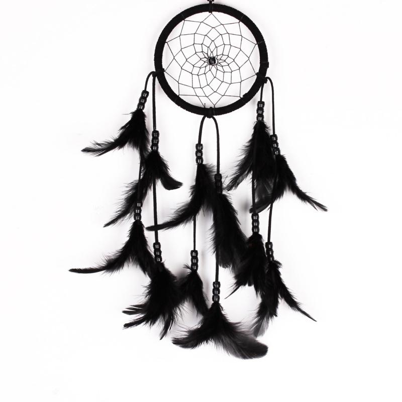 #<font><b>82018</b></font> Creative Cheap High Quality 8 Colors Dream Catcher Net Wall Hanging Decoration Bead Ornament Feathers Hot CM image