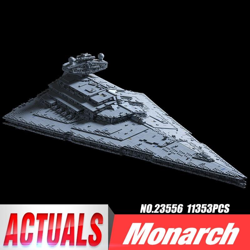 DHL 05027 ของเล่น Star Wars MOC 23556 Imperial Star Destroyer ชุด 75292 เด็กของเล่นคริสต์มาสของขวัญบล็อกอาคารชุดอิฐ-ใน บล็อก จาก ของเล่นและงานอดิเรก บน   1