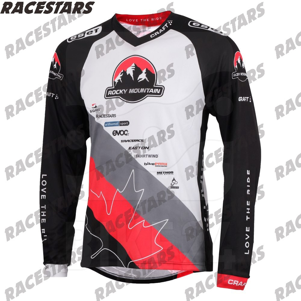 Джерси для мотокросса Rocky Mountain, одежда для гоночного велосипеда, быстросохнущая, для горного велосипеда, горного велосипеда, с длинным рукав...