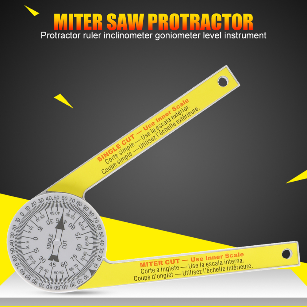 Miter Saw Protractor Engraved Dial Scale Angle Strong Portable Tool for Outdoor JDH99|Protractors| |  - title=