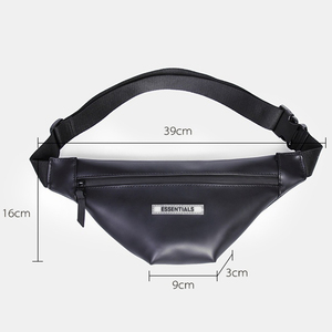 Image 2 - Classic Fanny Pack Slim Soft leather Water Resistant Waist Bag Casual Simple Belt Bag Unisex Pack for Outdoors Workout Traveling