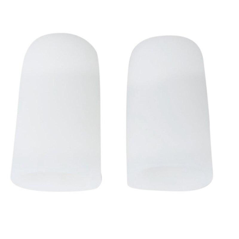 1 пара гелевых защитных колпачков для пальцев ног для предотвращения мозолей