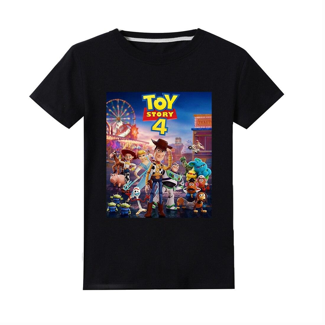 В 2019 году, новая детская футболка с героями мультфильма «История игрушек» хлопковая детская футболка Базз Лайтер/Вуди, летняя одежда