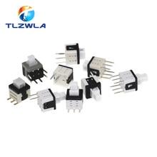 Kit de Micro interrupteurs tactiles, 5.8x5.8mm, 10 pièces, 2, 3, 6 broches