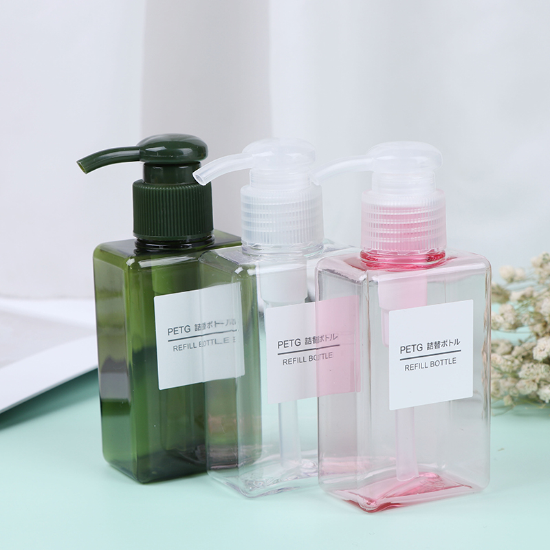 1Pcs Portable Travel Pump Soap Dispenser Bathroom Sink Shower Gel Shampoo Lotion Liquid Hand Soap Pump Bottle Container 100ml