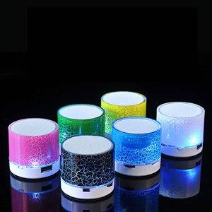 Image 5 - Bluetooth колонка, Беспроводная мини Колонка со светодиодной подсветкой, TF картой, USB сабвуфером, портативная музыкальная Колонка MP3 для ПК, мобильный телефон