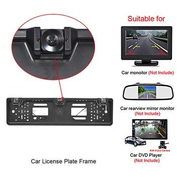 Hot European License Plate Frame Backup Camera Rear View Camera with Reversing Radar System Parking Sensor Car Styling