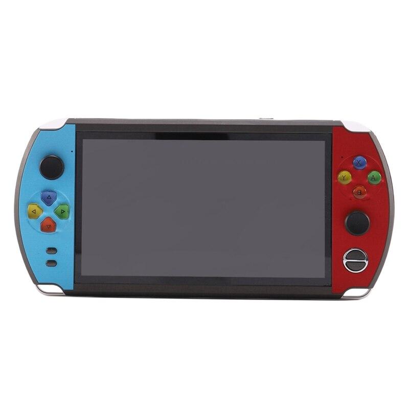 X19 nostalgique rétro HD 7 pouces grand écran Console de jeu portable Double Rocker conception pour FC Arcade CPS NEOGEO (8 GB)