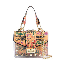 Fashion Women's Bag 2021 summer new crossbody chain shoulder bag handheld transparent sub mother small square package