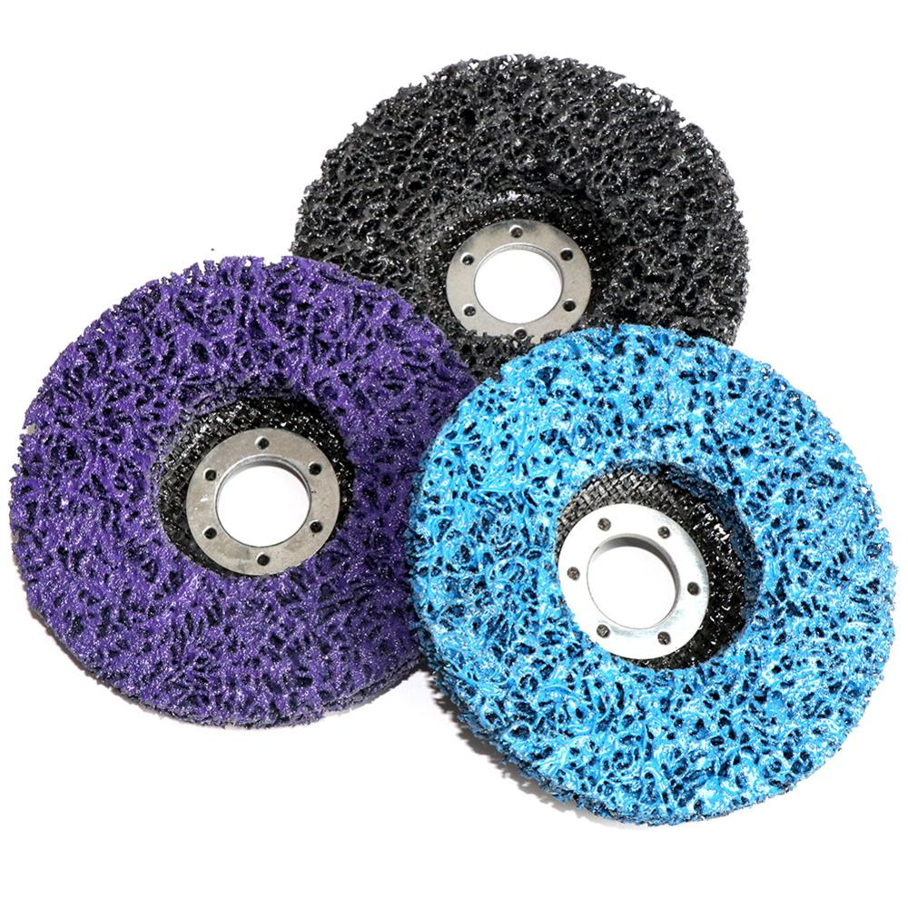 """2Pcs 2/"""" Poly Strip Disc Abrasive Head Grinding Wheel for Paint Remove 1//4/"""" Shank"""