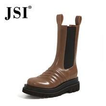 Jsi/модные зимние сапоги до середины икры; Новейшая модель;