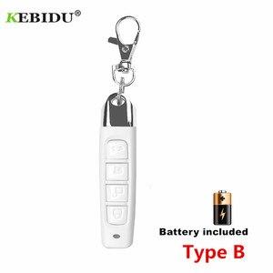 Image 4 - KEBIDU mando a distancia para puerta de garaje, 4 botones, 433MHZ, Control remoto automático, controlador de copias eléctricas, interruptor transmisor