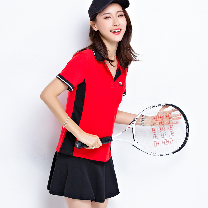 2019 Summer New Style Short Sleeve Kindergarten Teachers Kindergarten Suit Fashion Leisure Sports Suit Culottes Women's Teacher