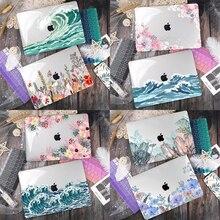 Feuilles vertes En Plastique Imprimé Housse pour Macbook Air 11 12 13 A1932 2020 Pro 13 A2251 A2289 15 16 Touch Bar 2019 A2141