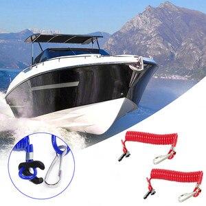 Image 1 - Красный/синий подвесной лодочный мотор, выключатель для остановки двигателя, зажим для ремня безопасности для Yamaha, моторная лодка, переключатель для остановки двигателя
