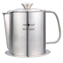 Контейнер для смазки бытовой с мелкоячеистым фильтром маслостойкие суповые горшки масляные фильтры кухонные принадлежности кухоновые приводы